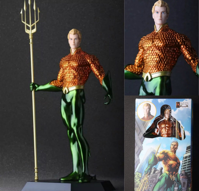 Сумасшедшие игрушки Аквамен Артур Карри ПВХ фигурку Коллекционная модель игрушки 10 25 см KT054