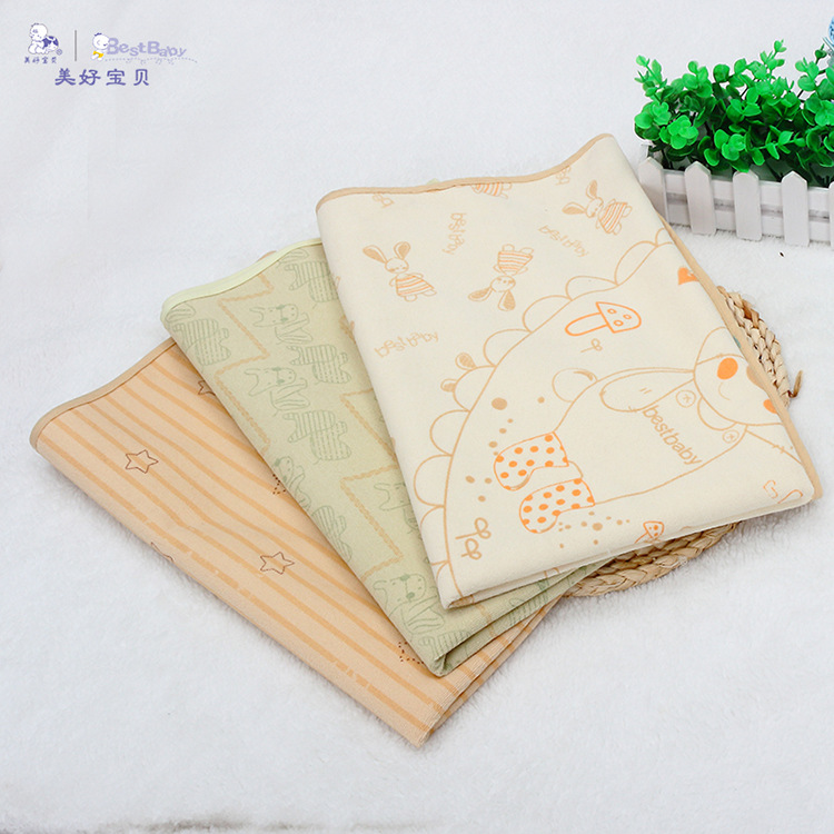 Best Baby 2017 New 98*74cm Big Sizes 0-12 M Cartoon Waterproof Baby Diapers Repetition Use Cloth Nappy Changing Mat Urine Mat franke cm 74 m co