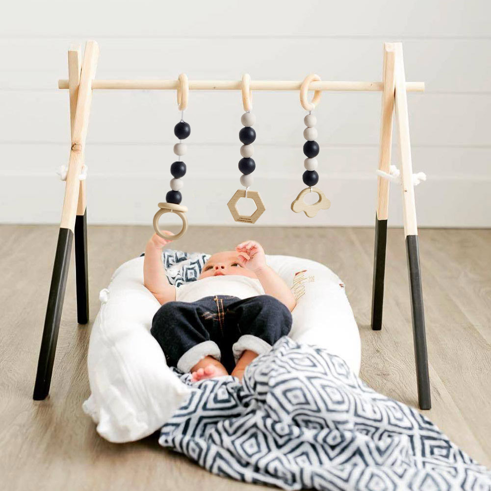 Baby Activity Playing Equipment Fitness Wooden Ring pull Frame Multi bracket Toddler Educational Toy Hot Sale