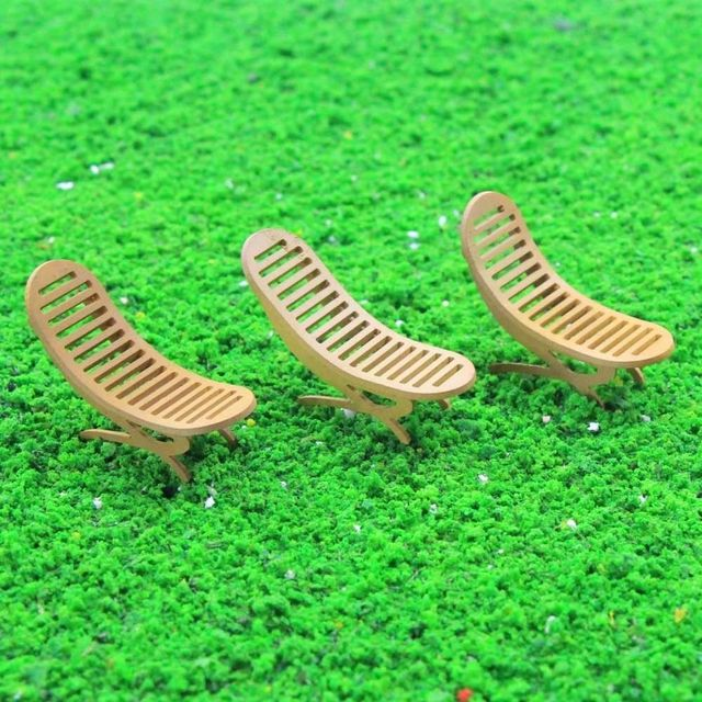 6pcs Model Railway Layout 1 32 Sun Loungers Beach Chairs Settee G Scale New Zy24032 Building Kit Sling Chair Recliner