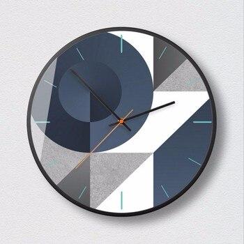 Nordic Geometric Clock Wall Art Technology Sense Modern Minimalist Mute Wall Clock Large Bedroom Living Room Decoration C5T086