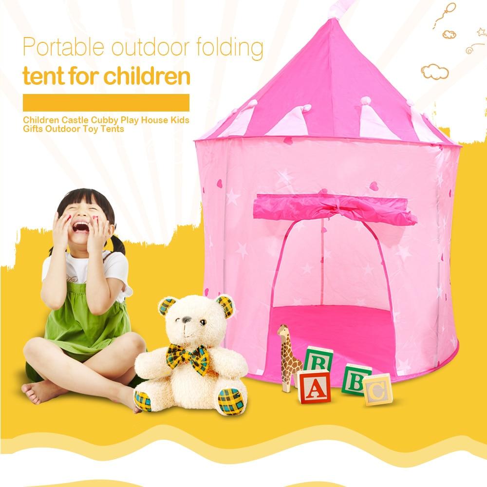 Spielzelt Kinder Tragbare Cubby Haus Faltbare Schloss Outdoor Sport Spielzeug Zelt Hinterhof Park Party Spiel Stunden für Kinder Geschenke