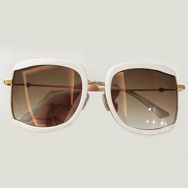 Oval Sunglasses Women Brand Designer High Quality Vintage Fashion Shade with Box Oculos De Sol Feminino
