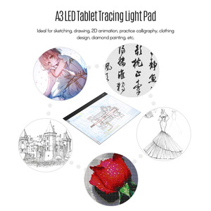 Image 5 - LED A3 Light Panel Graphic Light Pad Digital Copyboard with 3level Dimmable Brightness for Tracing Drawing Copying light pad a3