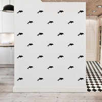 24pcs Waterproof Dolphin Fish Wall Sticker House Decoration