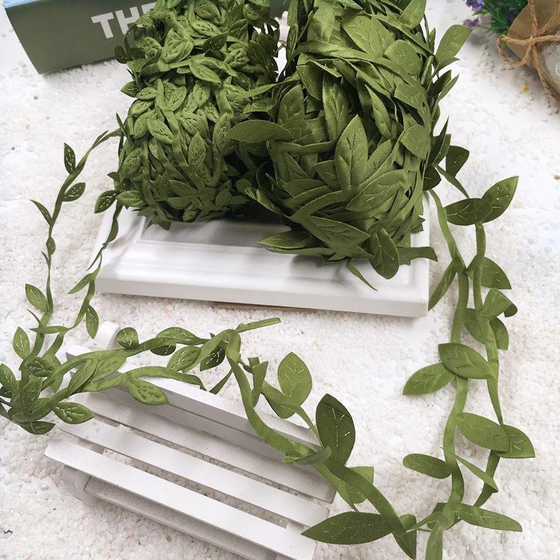 5 Meter/mini Künstliche Seide Leaves Form Clip Hochzeit Girlande Dekoration  Handwerk Künstliche Blumen(
