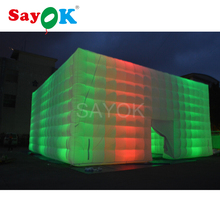 Lighted Inflatable Cube Tent  Room Foldable Outdoor Camping for Commercial Advertising Party decoration