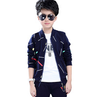 Boys Clothing Sets 2018 Spring Autumn Children Sport Suits Long Sleeve Boys Clothes 3 PCS Kids Tracksuit 4 6 8 10 11 12 13 Years