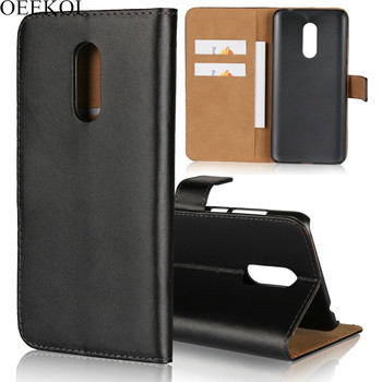 OEEKOI Genuine Leather Wallet Flip Case for Xiaomi Redmi 7/Note 5/Note 6/S2/6 Pro/6A/6/5/5A/5 Plus/Note 4X/Note 4/4A/Note 3/3S/3