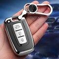 Мягкий ТПУ чехол для автомобильного ключа для Hyundai Solaris HB20 Veloster SR IX35 Accent Elantra i30 ДЛЯ KIA RIO K2 K3 Sportage