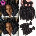 7а Человеческие волосы Малайзийские виргинские афро волна 3 расслоения с закрытия Малайзии 3 пучки tissage bresilienne avec закрытия paypal