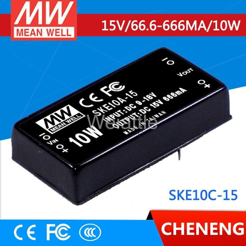 MEAN WELL original SKE10C-15 15V 666mA meanwell SKE10 15V 10W DC-DC Regulated Single Output ConverterMEAN WELL original SKE10C-15 15V 666mA meanwell SKE10 15V 10W DC-DC Regulated Single Output Converter