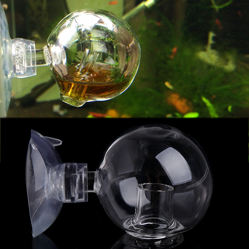 Aquarium Fish Tank Carbon Dioxide CO2 Monitor Glass Drop Ball Checker Tester Transparent New image