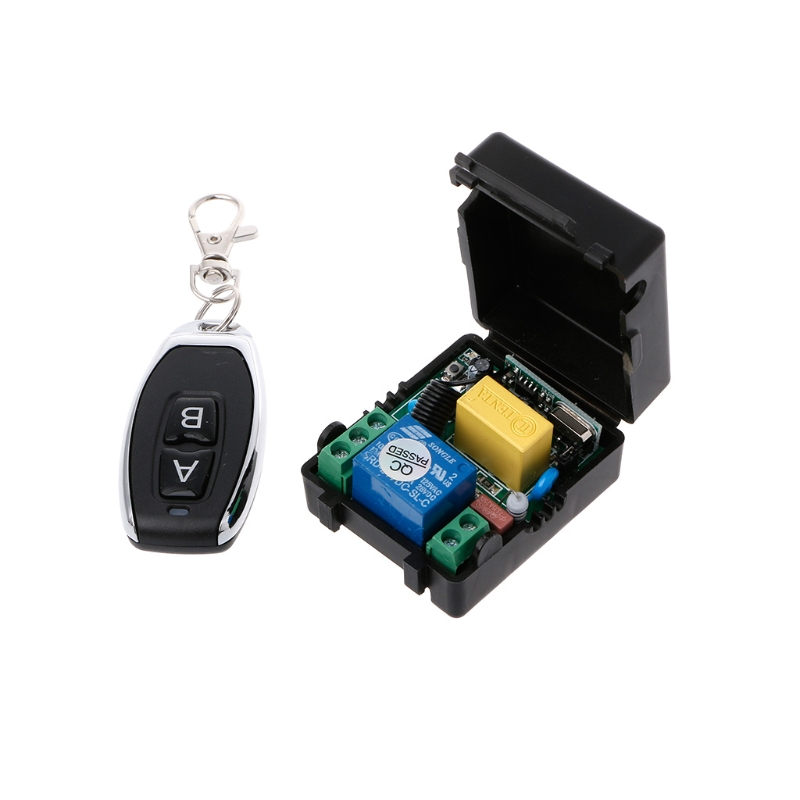 AC 220V 10A <font><b>1CH</b></font> <font><b>RF</b></font> 433MHz Wireless Remote Control Switch Receiver + Transmitter Kit image