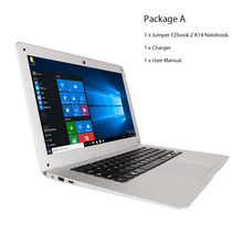 Jumper EZbook 2 A14 notebook 14.1 Inch Intel Cherry Trail Z8300 Quad Core 1.44GHz Windows 10 1080P FHD 4GB RAM 64GB eMMC laptop(China)