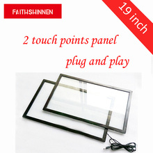 19 inch IR 2 points touch screen flat panel with glass interactive недорого