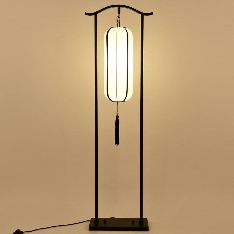 Chinese classical lantern floor lamps creative Iron+cloth living room bedroom dining room retro desk lamp floor lights ZA