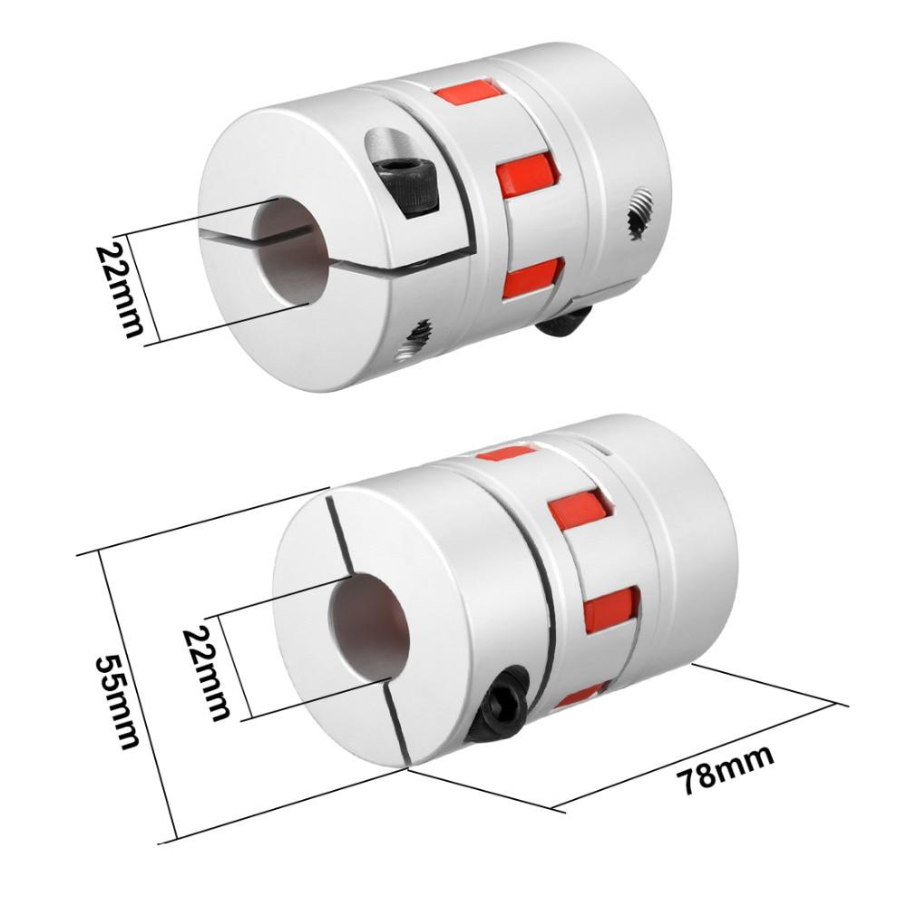 16mm x 16mm Flexible Plum Coupling Shaft D40 L66 CNC Stepper Motor Coupler