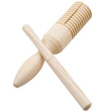 Деревянный музыкальный инструмент для детей, детские игрушки, звуковая трубка, маленький однониточный кольцевой перкуссионный цилиндр, Квак, лягушка, бочонок