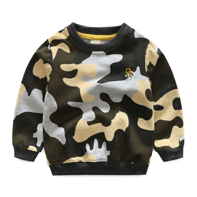 2018 New Camouflage Sweatshirts For 2-8 Years Boys Long Sleeve Pullover Kids Boys Camo Hoodie Sweatshirt Sweats