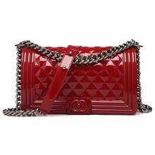 PVC bolsas de mensajero de las mujeres bolsos de cadena del color del caramelo 2017 Del Verano mujeres de los bolsos de marcas famosas Nuevos bolsos crossbody hombro de la Manera
