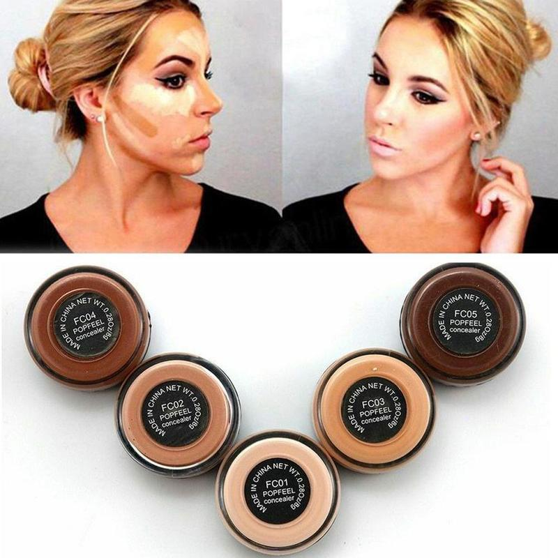 1PC Full Cover 5 Colors Concealer Makeup Dark Circles Spot Hide Base Cosmetic Face Corrector Foundation Contour Concealer Cream image