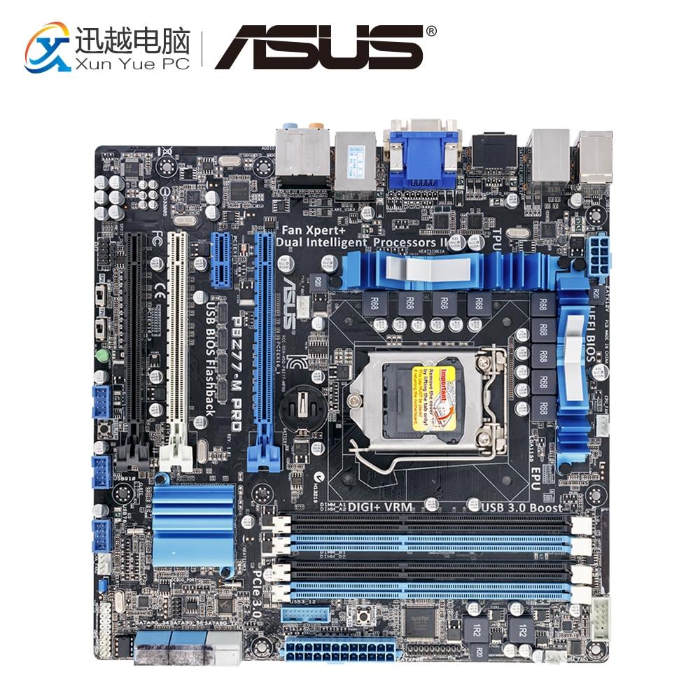 Asus P8Z77-M PRO Desktop Motherboard Z77 Socket LGA 1155 i3 i5 i7 DDR3 32G SATA3 USB3.0 uATX цена и фото