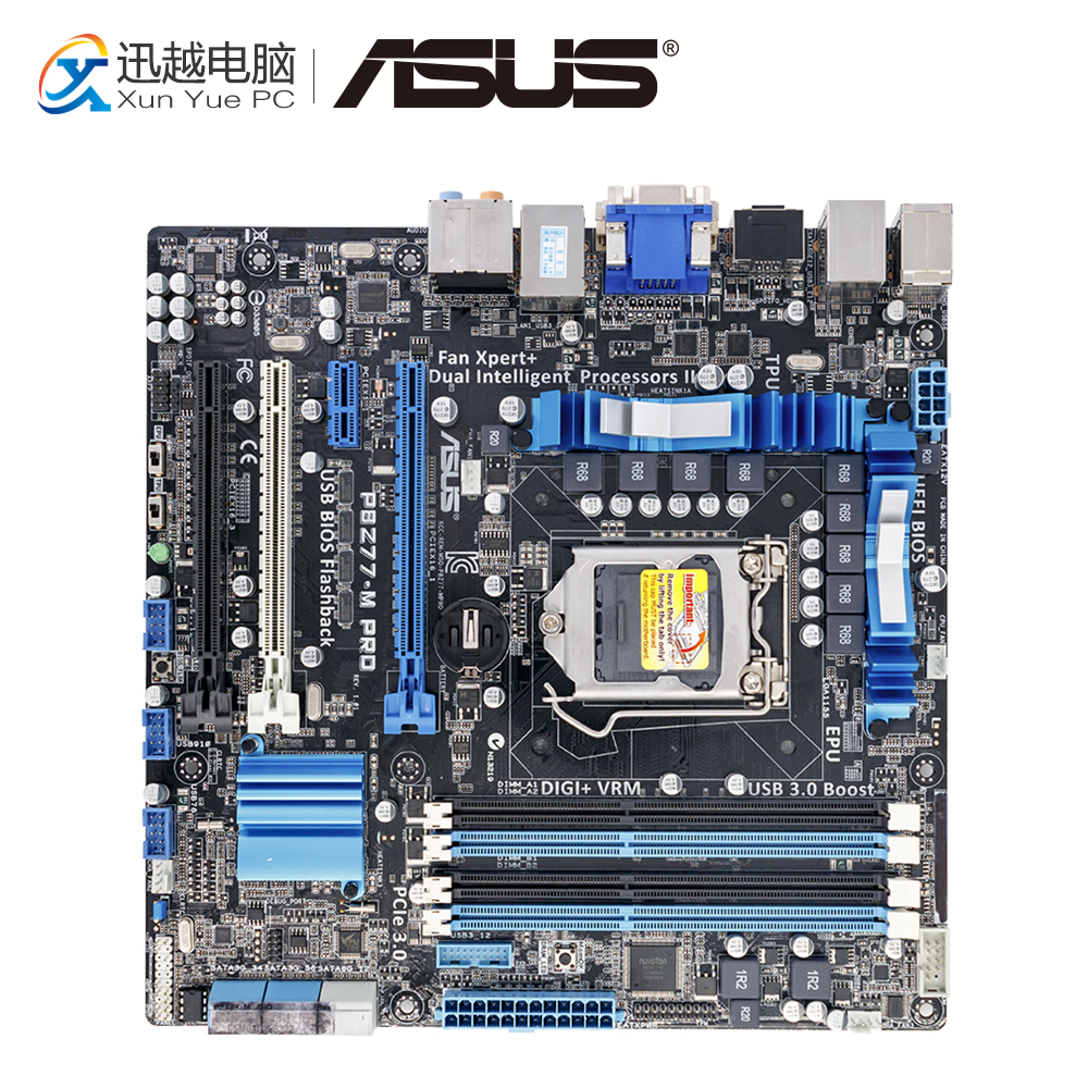 Asus P8Z77-M PRO Desktop Motherboard Z77 Socket LGA 1155 i3 i5 i7 DDR3 32G SATA3 USB3.0 uATX цена