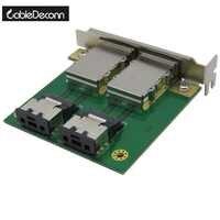 Dual Mini SAS 26 Pin SFF-8088 to SAS 36 Pin SFF-8087 Adapter PCI Card Bracket