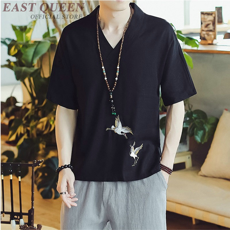 Beschouwend Traditionele Chinese Kleding Voor Mannen Mannelijke Chinese Mandarijn Kraag Shirt Blouse Wushu Kung Fu Outfit China Shirt Tops Ff445 Om Een Hoge Bewondering Te Winnen