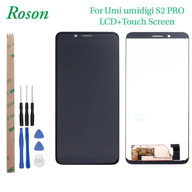 Roson pour UMI UMIDIGI S2 PRO LCD Affichage et Écran Tactile Avec Cadre Assemblée Remplacement Avec Des Outils + Film Pour UMIDIGI S2 PRO