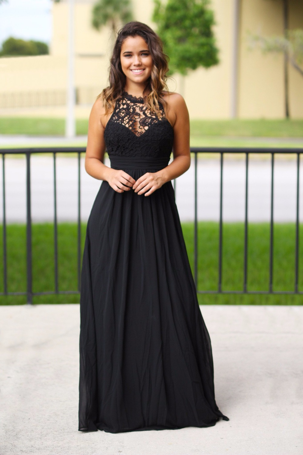Black Maxi Long <font><b>Bridesmaid</b></font> <font><b>Dresses</b></font> Sleeveless <font><b>Sexy</b></font> Back Floor Length Beach Boho <font><b>Bridesmaid</b></font> Gowns Custom Made Country Style image