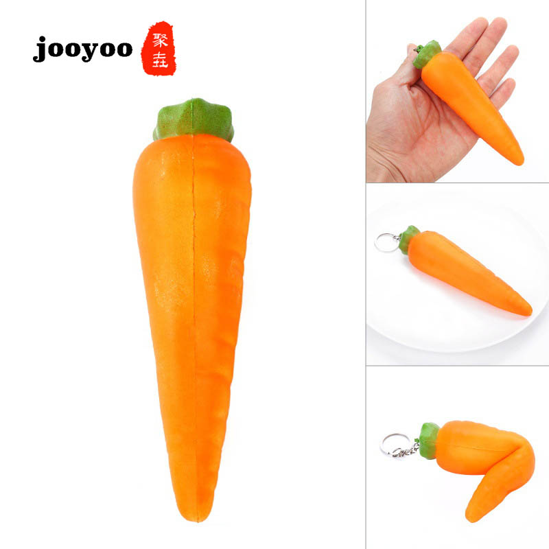 PU Carrot Simulation Vegetable Model Toy Props Squishy Slow Rebound Toy  Jooyoo