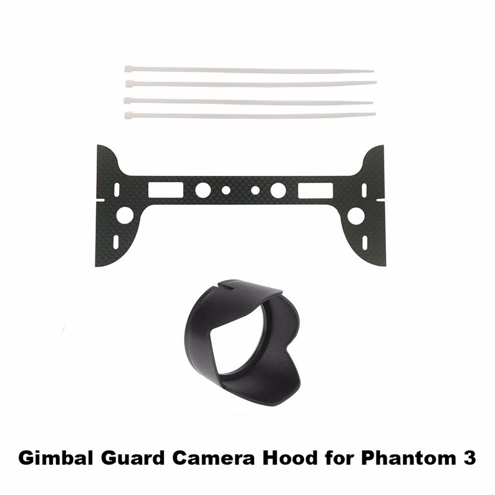 Carbon Fiber Gimbal Camera Landing Guard Protector Camera Lens Hood Sunshade For DJI Phantom 3 Spare Parts AccessoryCarbon Fiber Gimbal Camera Landing Guard Protector Camera Lens Hood Sunshade For DJI Phantom 3 Spare Parts Accessory
