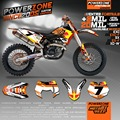 Customized Team Graphics  Backgrounds Decals 3M  Stickers For KTM SX F E XC F W SXF125  530 2007 2008 2009 2010 2011 17 002 RB