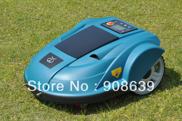 2013 Newest Third generation Pressure Sensor,Language,Time,Subarea Setting,Compass Function Automatic Lawn Mower Robot