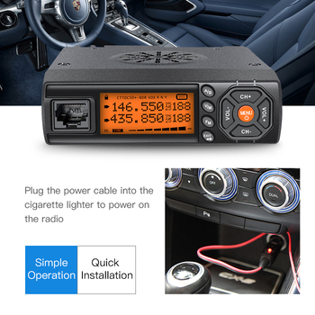 Zastone Z218 Mini Car Walkie Talkie 10KM 25W Dual Band VHF/UHF 136-174mhz 400-470mhz 128CH Mini CB Radio Station Transceiver