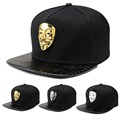 New Vintage Face Mask Snapback Men Hip Hop Hat Baseball Caps Casual Snapback Swag Style Golden/Silver/White