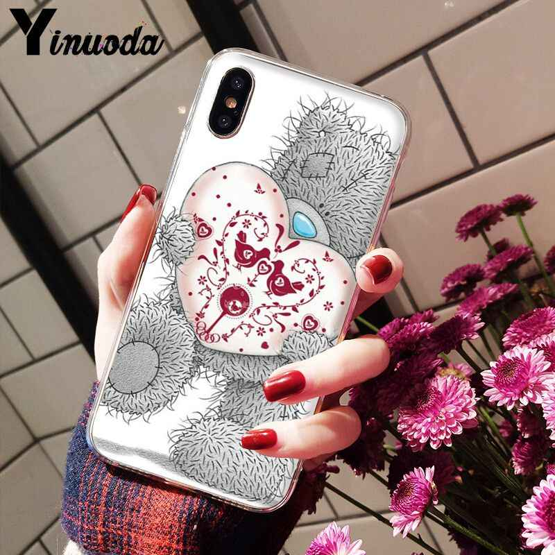 Yinuoda Tatty Teddybeer Me Om U Transparante Soft Shell Telefoon Cover voor Apple iPhone 8 7 6 6S plus X XS MAX 5 5S SE XR Cover