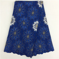 African Cotton Swiss Voile Lace Fabric High Quality Stones Swiss Voile Lace In Switzerland Cotton African