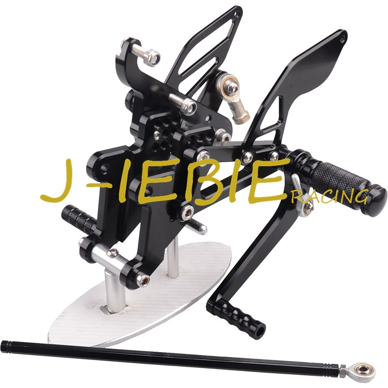 CNC Racing Rearset Adjustable Rear Sets Foot pegs Fit For Yamaha YZF R6 2003 2004 2005 R6S 2006 2007 2008 2009 BLACK