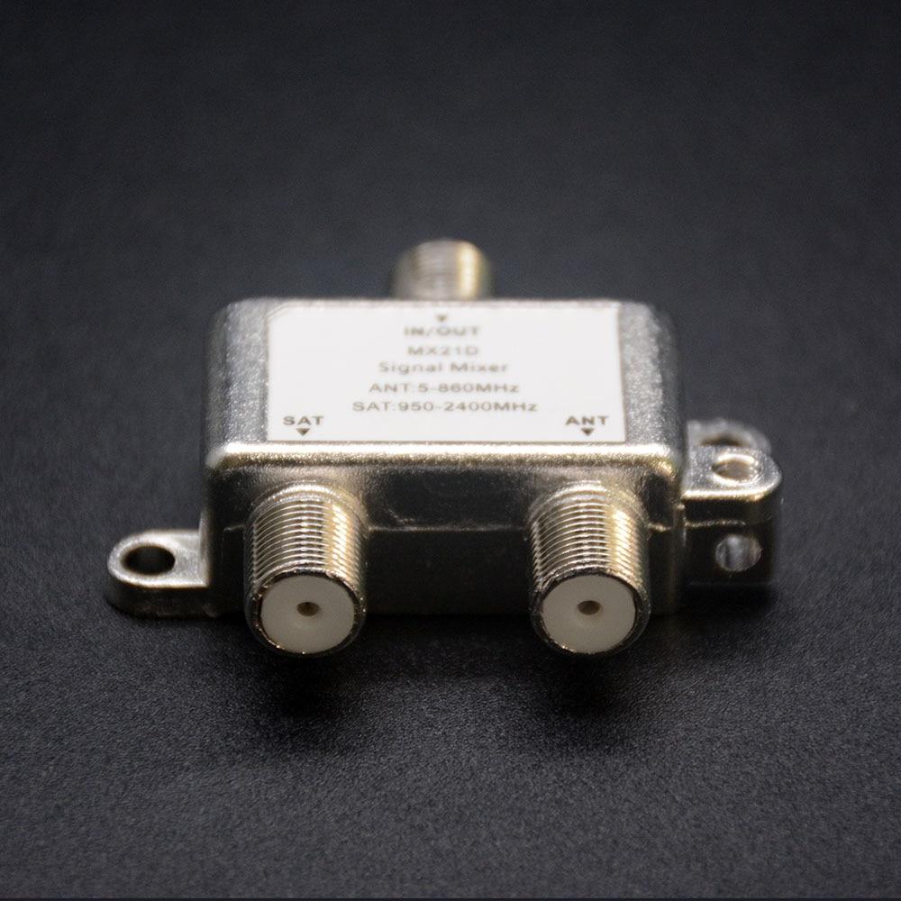 2 në 1 Sinjalizim Satelitor dyblexues Satellite Coaxial Diplexer UHF - Audio dhe video në shtëpi - Foto 2