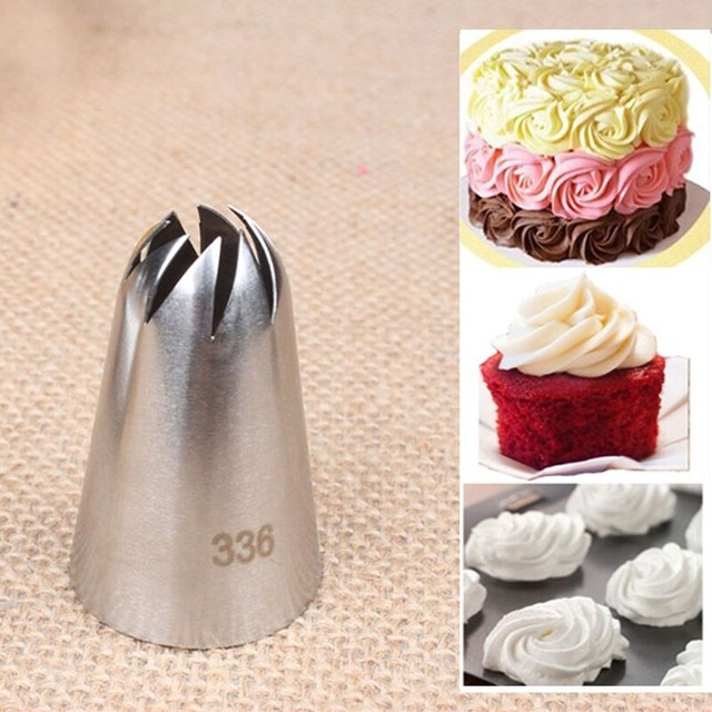 1 piece #336 Stainless Steel Icing Piping Nozzles Pastry Tips Set ...