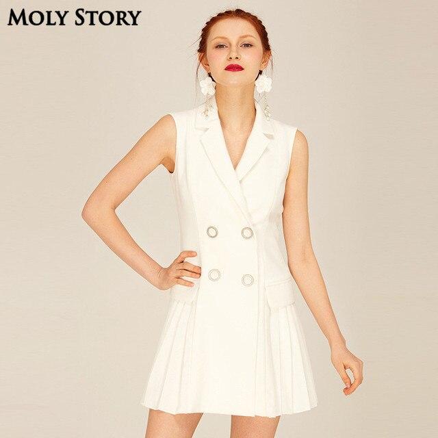 Super! Señoras pequeña chaqueta blanca vestido backless atractivo plisado  partido corto Vestidos delgado del vestido f867541e8e8a6