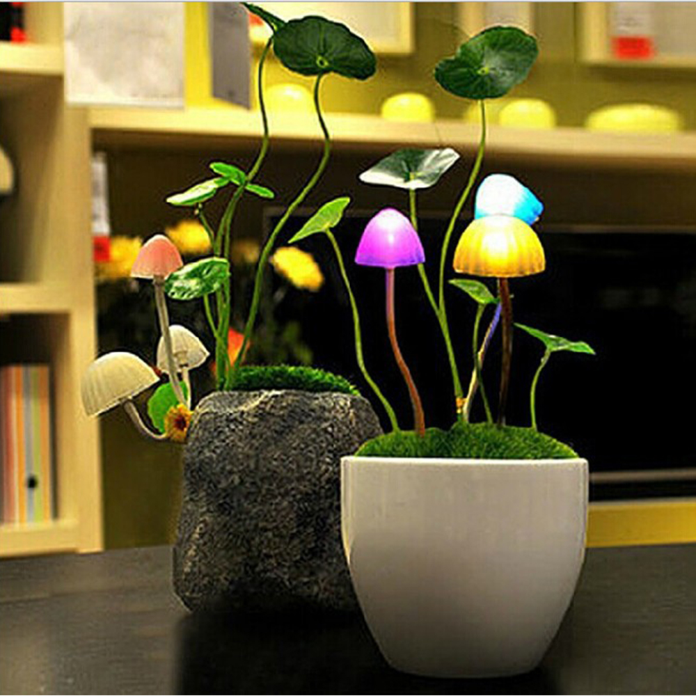 usb charging Light Control Mushroom LED Table Lamp Night Light Baby Sleep kids Bedside bedroom Night lighting Home desk Decor home decor cartoon sheep bedside desk led night light