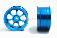 CNC Aluminium Alloy Metal Rims Wheels Hub For 1 10 RC Racing Car 4pcs Set Free