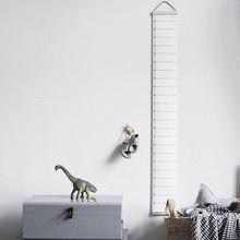 Kinder Dekorative Wachstum Charts Höhe Hängen Holz Rahmen Stoff Leinwand Höhe Messung Lineal für Kinder Höhe Rekord