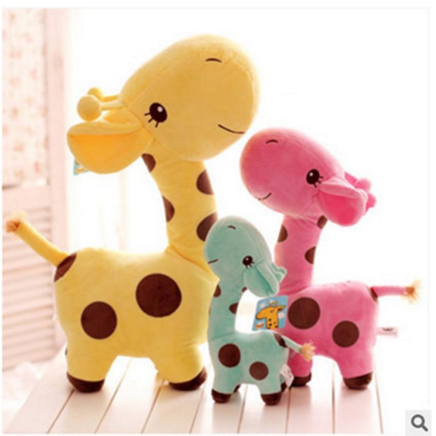 Cute Plush Giraffe Toys Soft Colorful Animal Dear Doll