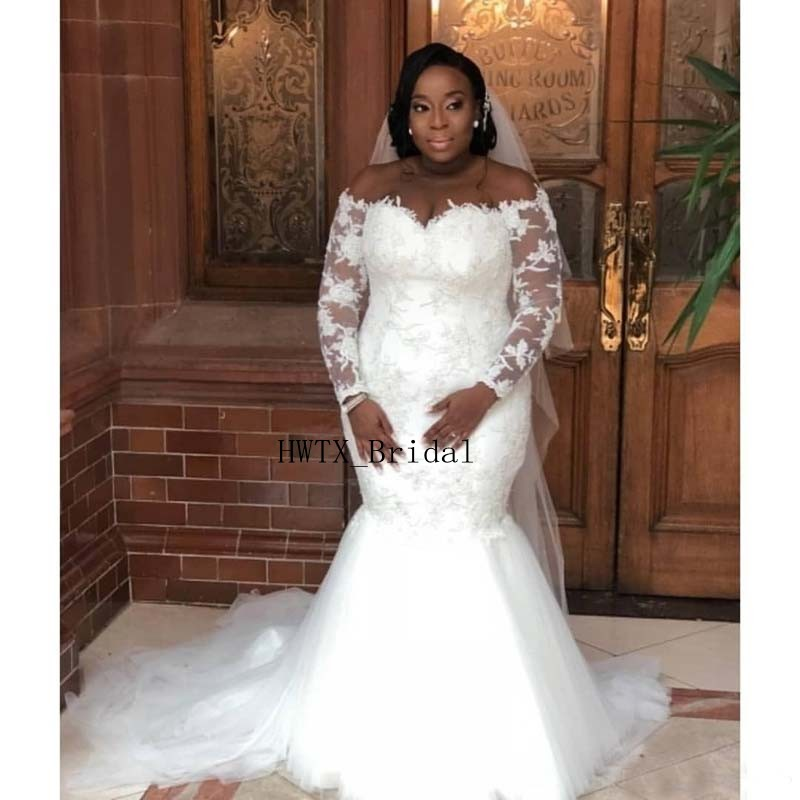 The Perfect Wedding Gown: 2019 African Mermaid Wedding Dresses Plus Size Long Sleeve
