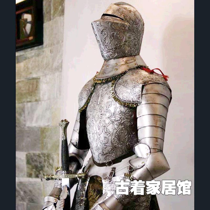 Armure européenne Chevalier de l'ancien Rome Cavaliers/armure Européenne fer bar décoré décoration de salon 1 mètres 6 maison Furni